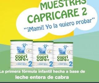 Gratis leche infantil Capricare