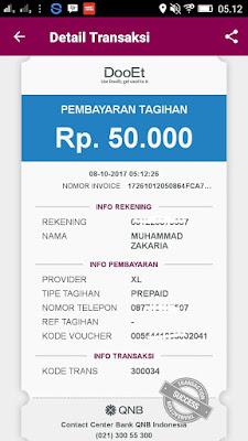 Bukti Kado Hadiah dari Aplikasi DooEt QNB Indonesia