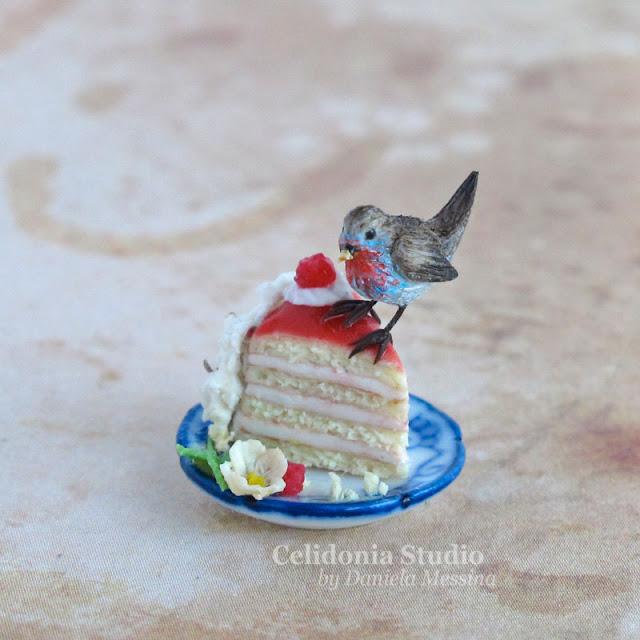 Uccellino Miniatura in Pasta Sintetica by Celidonia - Daniela Messina