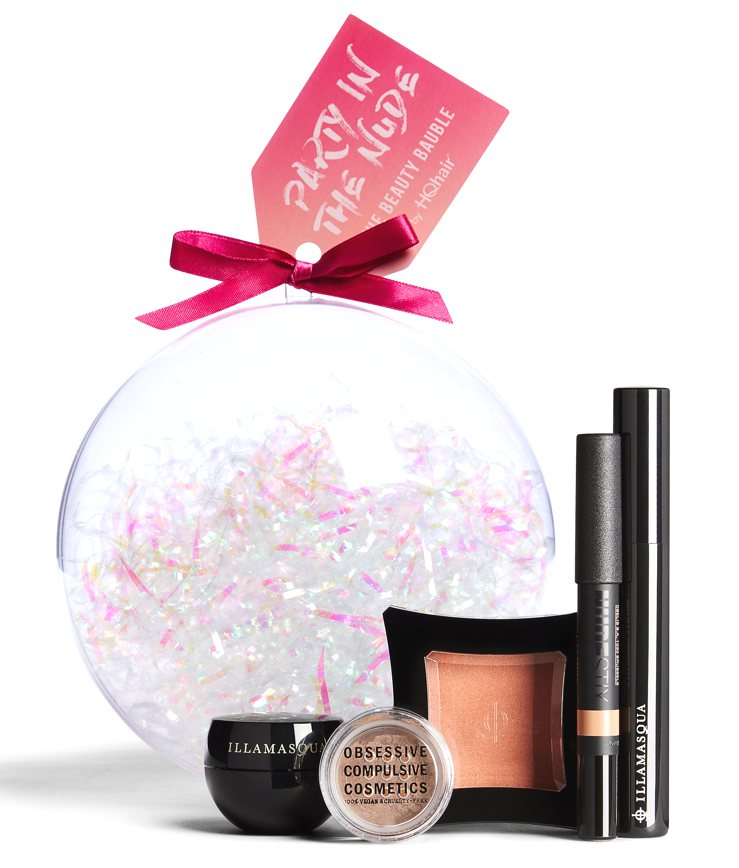 The HQHair Beauty Bauble makeup gift set for Holiday 2016 contains five makeup products.