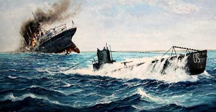Lusitania, Alman denizaltısı tarafından vurulur vurulmaz batmıştı.