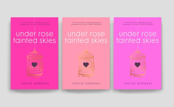 The three Under Rose Tainted Skies covers