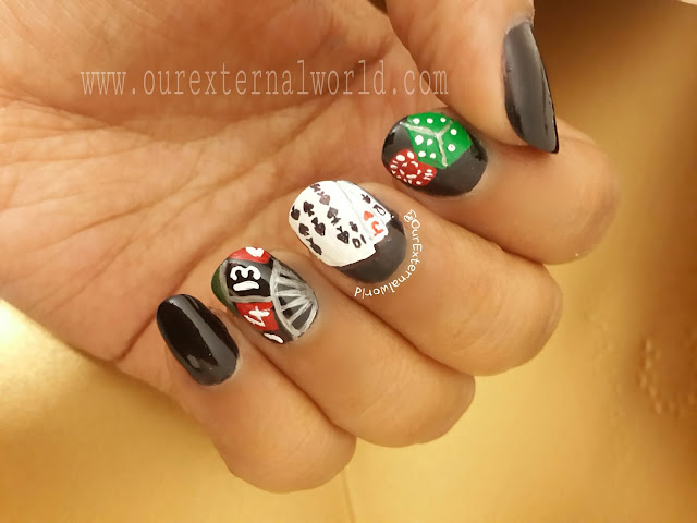 casino nails, Las Vegas, roulette