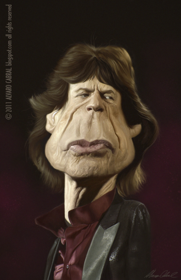 Mick Jagger por Álvaro Cabral
