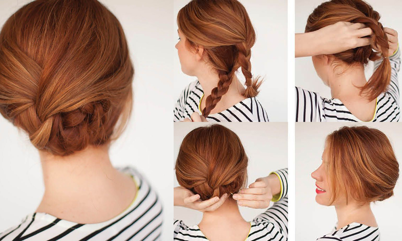 Hairstyles Braids Easy Tutorial: Easy Braided Updo Tutorial: Get Your Own Version