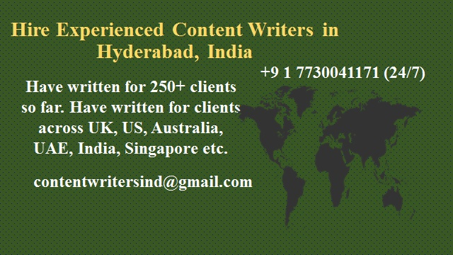 Best Writers in Hyderabad