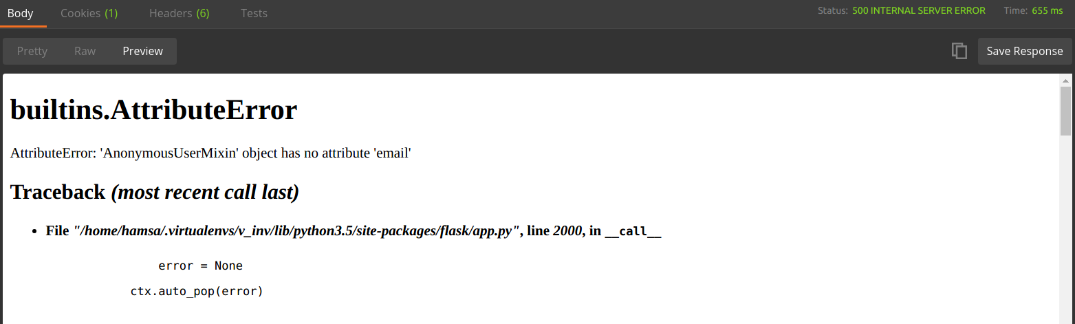 Testing API requiring user session details in Postman