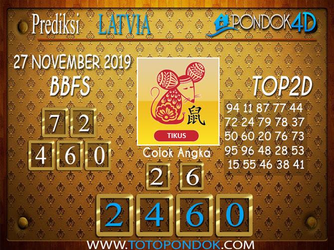 Prediksi Togel LATVIA POOLS PONDOK4D 27 NOVEMBER  2019