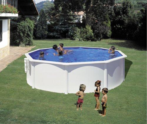 piscine acier blanc o3 50m