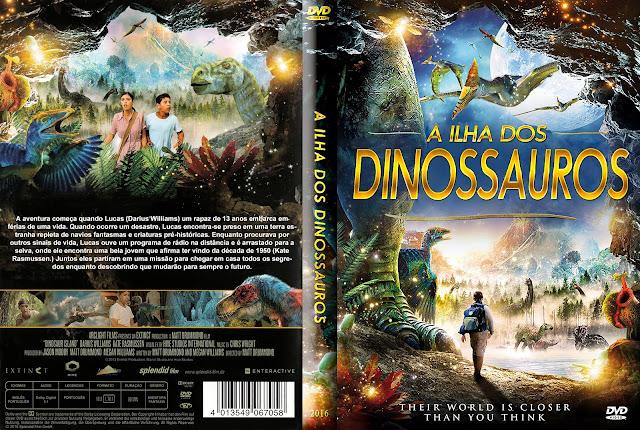 Capa DVD A Ilha Dos Dinossauros
