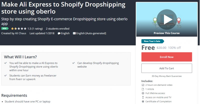 how to create shopify store