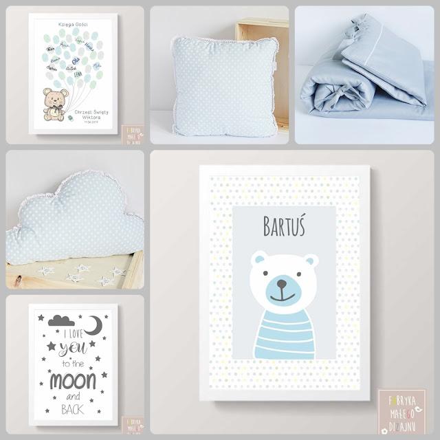 poduszka chmurka, grafiki na ścianę