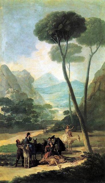 Francisco de Goya -  La caída - 1786-87