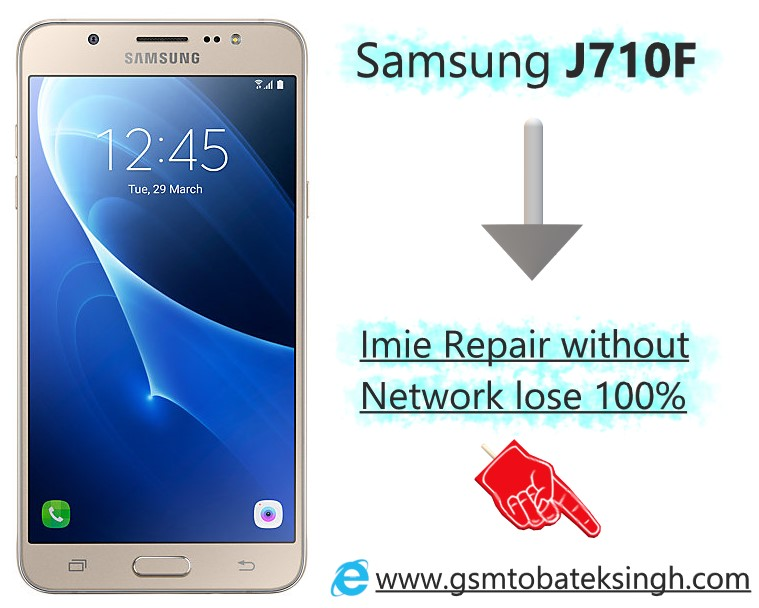 Samsung J710F Root for Repair imie without network lose