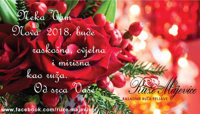 Sretnu Novu godinu zele Vam Ruze Majevice - rasadnik ruza