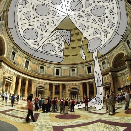 20-The-Pantheon-in-Rome-Italy-Cheryl-H-The-Dreaming-Clouds-Drawings-www-designstack-co