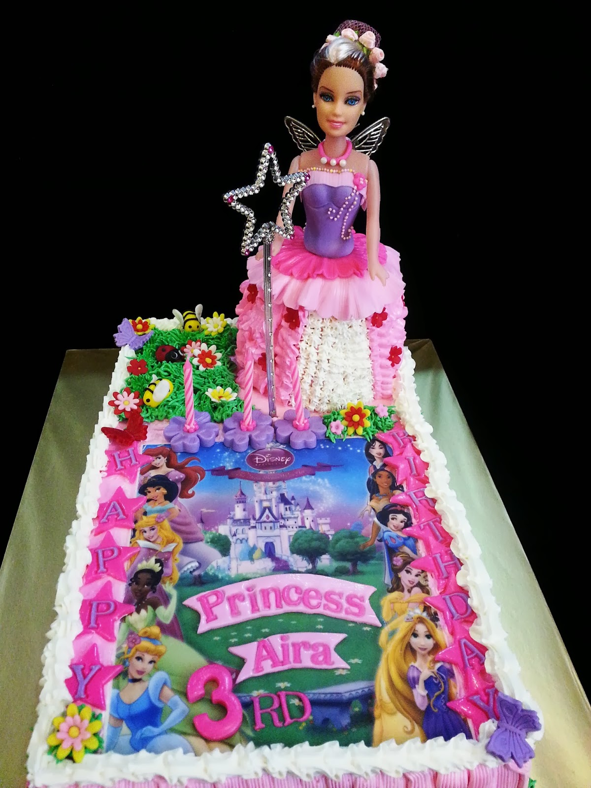 Sweet Creations Fairy Princess Doll Cake With Edible Image
