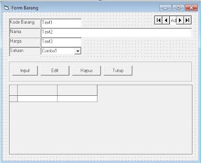 Cara Membuat Form Barang Aplikasi Pembelian VB 6.0