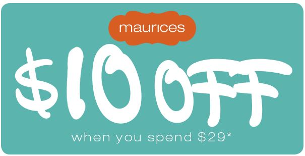 maurices coupons printable rexburg matchups maurices 10 29 or more 23589 | Maurices Coupon