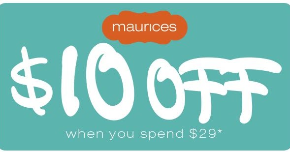 graphic relating to Maurices Printable Coupons named Rexburg Coupon Matchups: Maurices $10 off $29 or a lot more obtain!