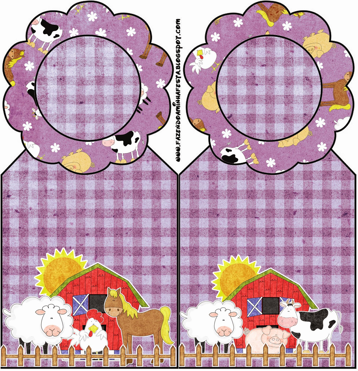 The Farm in Purple: Free Party Printables