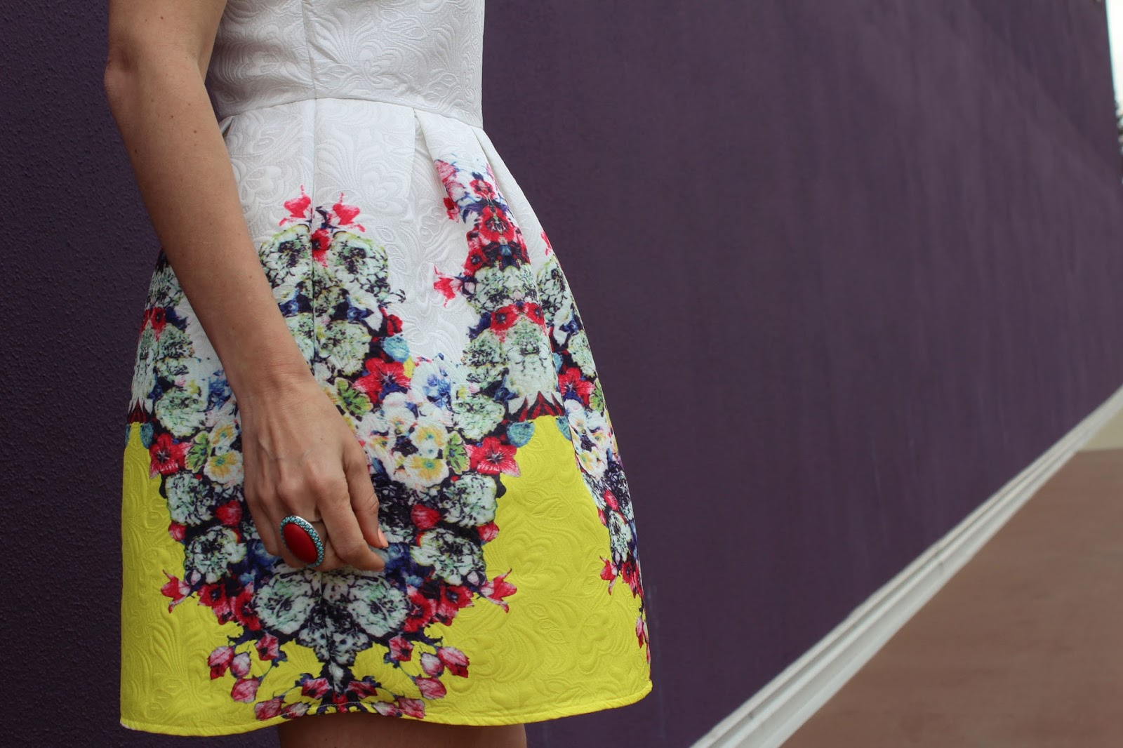 Eniwhere Fashion . Floral Dress - SheIn