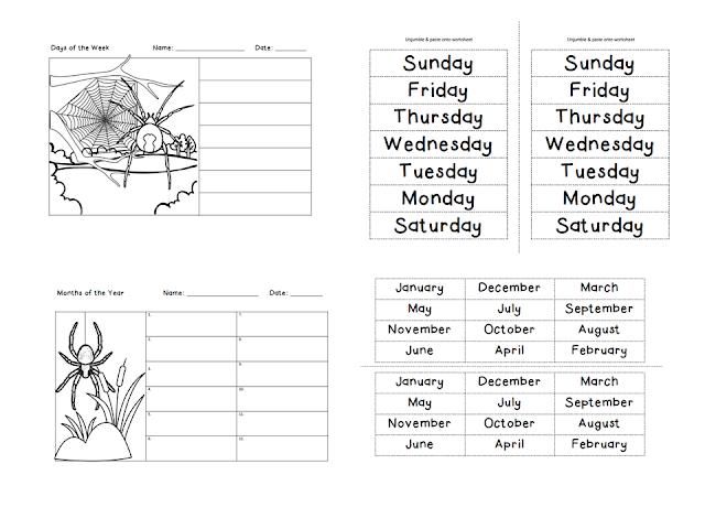 Days of the Week Cut and Stick Worksheet Arabic Translation