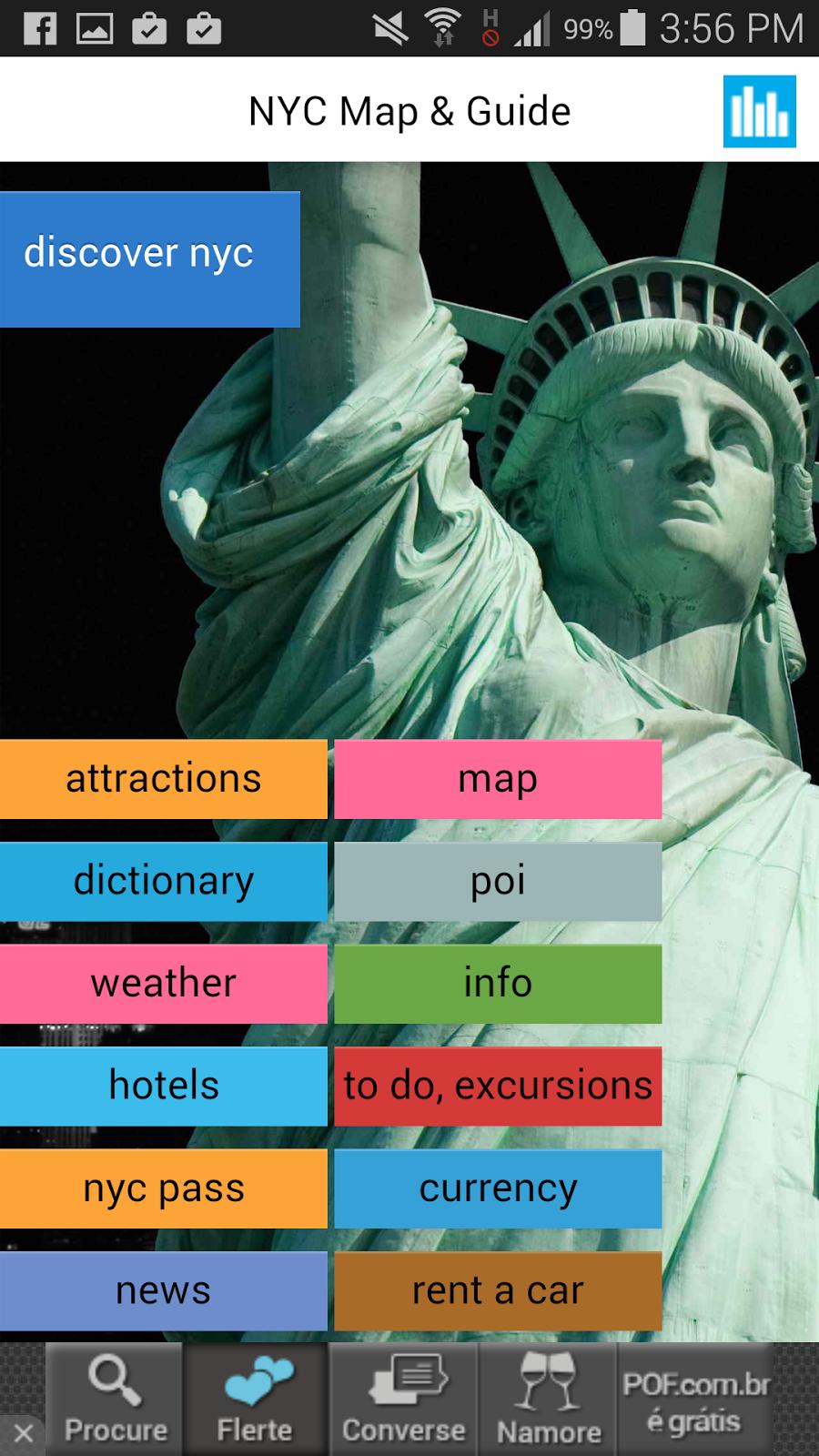 app de viagem para Nova Iorque