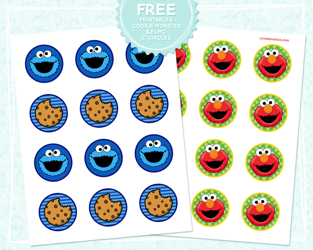 picture about Cookie Monster Printable titled Absolutely free Printables - Cookie Monster Elmo Circles