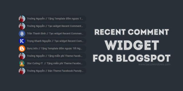 Recent comment với avata bo tròn cho blogger