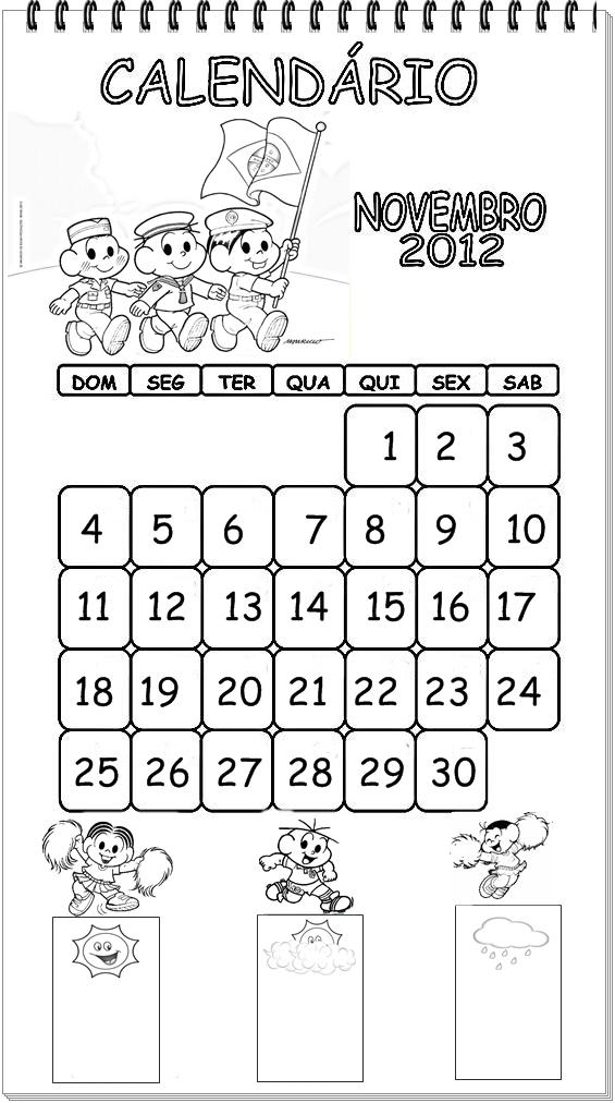 Tia Helainy: calendário 2012 para pintar (setembro a dezembro)