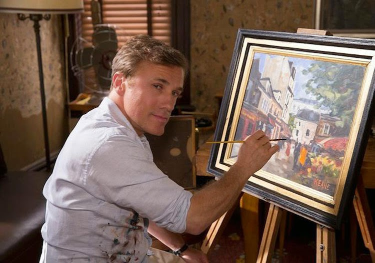 Christoph Waltz fakes his art as Walter Keane in Tim Burton's Big Eyes.