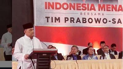 Gatot Nurmantyo: Saya hadir ke Pidato Kebangsaan Prabowo Bukan Untuk Jabatan