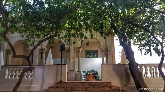 Jardín Petit Palace Boquería, casa Ignacio de Puig