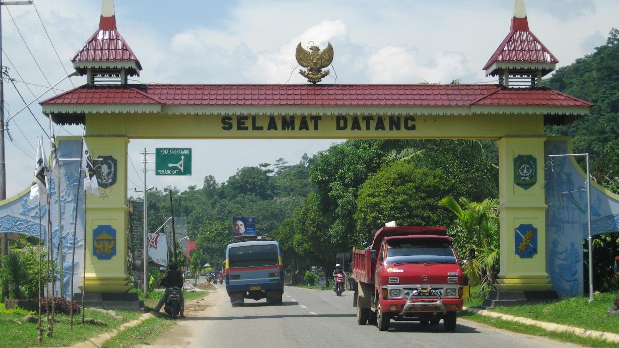 Gerbang selamat datang di Singkawang
