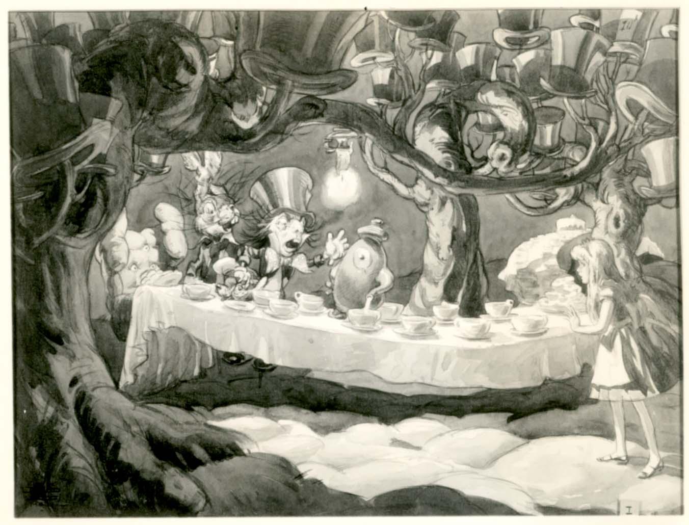 Wonderland Hatter Mad 1951 Alice Pouring Tea