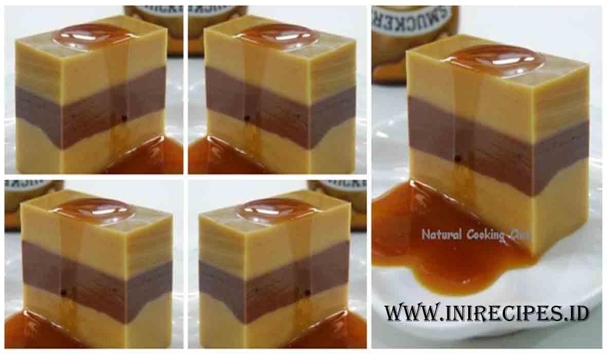 Resep Pudding Lapis Karamel Cokelat Ala Fatmah Balawan