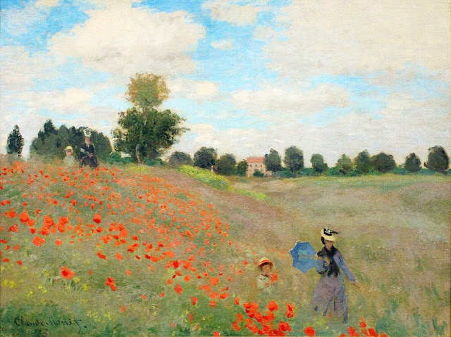 Poppy Fields near Argenteuil, Claude Monet, 1875, New York, Rancho Mirage