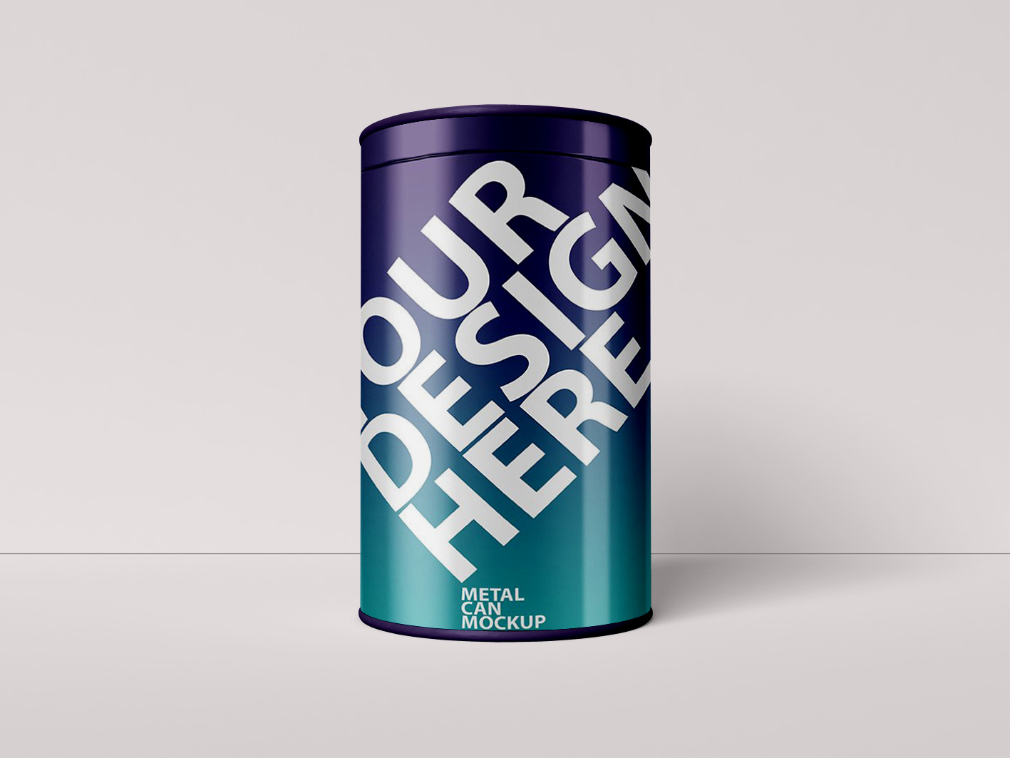 Metal Can Packaging Mockup
