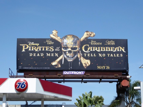 Pirates Caribbean Dead Men extension cut-out billboard