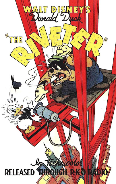 Disney's The Riveter poster from 1940 with Donald Duck