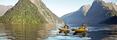 Kayaking Milford Sound, Fiordland