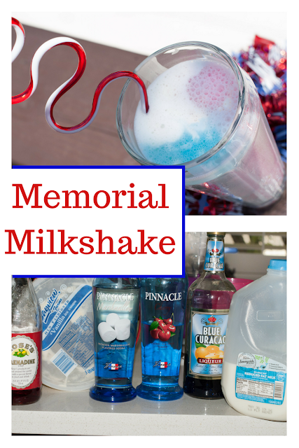 Perfect milkshake cocktail for Memorial Day with it's red, white and blue colors!