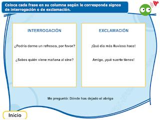 http://www.primerodecarlos.com/TERCERO_PRIMARIA/septiembre/unidad1/lengua/interroga_exclama/ortografia2.swf