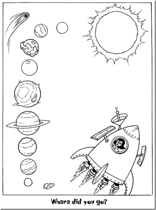 el sistema solar dibujos para colorear ciclo escolar