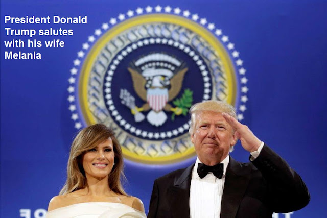 File:President Donald Trump salutes with his wife Melania.svg