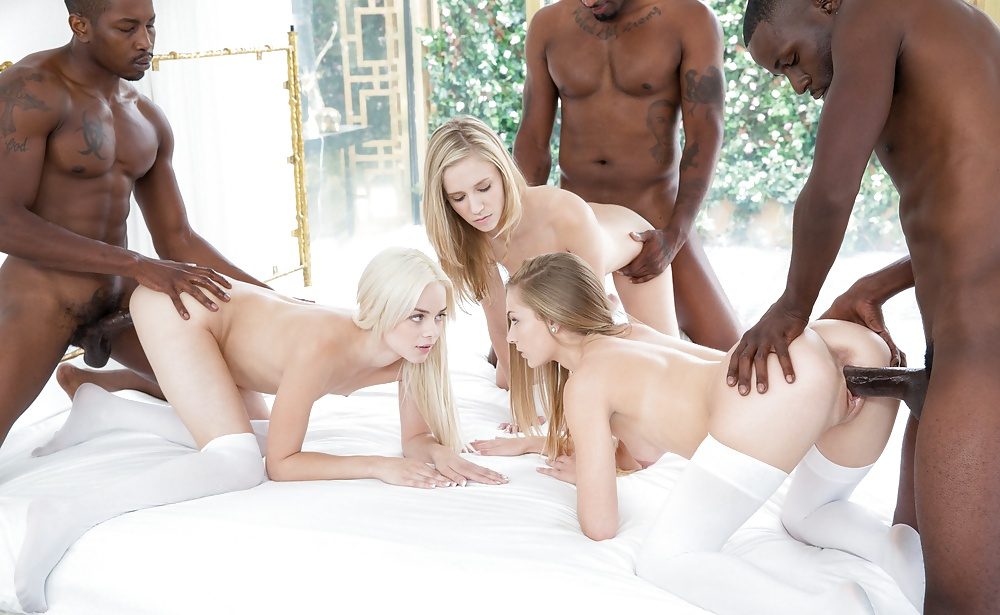 White Girls Serving Black Freeones 1