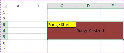 What is the difference between Range Resize and Range Offset