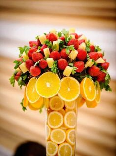 Detalles Centros de Mesa, Frutas