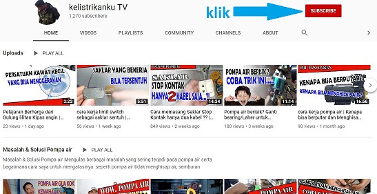 Mampir ke channel Youtube ku